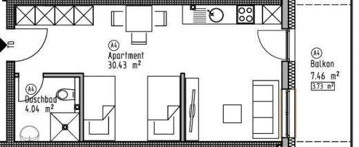 Appartement 4 - Wohn- und Geschäftshaus Ilshofen