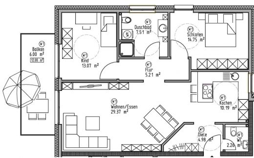 Wohnung 1 - Wohn- und Geschäftshaus Ilshofen
