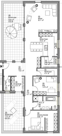 Penthaus-Wohnung 6 - Wohn- und Geschäftshaus Ilshofen